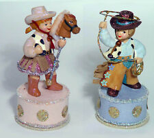 COWPOKE Cowboy & Cowgirl Figurines Western American NEW Katherine's Collection
