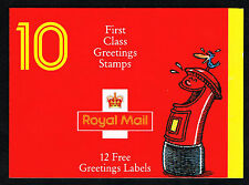 GB 1991 Greetings Booklet = Famous Smiles and Labels = BK1161 = MINT VF NH