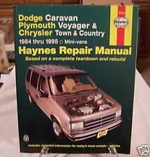 Dodge Caravan Voyager All 1984 To 1995 Haynes Manual