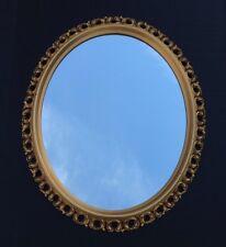 "Vintage Mid Century Turner Ornate Oval Gold Decorative Wall Mirror 24"" X 20"""