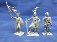 1:32 (54 mm) Tin Soldier Set - Medieval Knights Set 3 - 3 figures #S54-18
