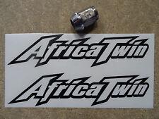 2 x AFRICA TWIN Tank / Fairing Decals Stickers (BLACK) Fits Honda