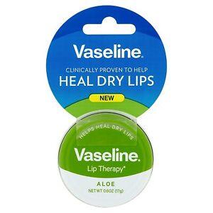 Vaseline Lip Therapy Aloe Vera Lip Balm Tin, 0.6 oz pack of 1