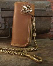 Biker long Wallet chain octopus ring Genuine Leather piston squid TENTACLE men