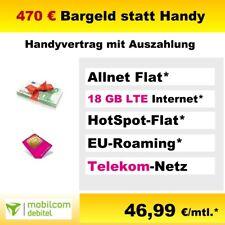 Sim Karte Only mit Vertrag Bargeld Auszahlung Handyvertrag Mobilcom Telekom Netz