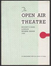 The Open Air Theatre, Regent's Park,  Programme, Tobias & the Angel - 1939