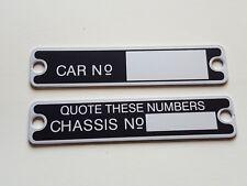 Austin 7 Seven Box Chassis & Car No Badge Plates RL RG RN Saloon SWB Aluminium