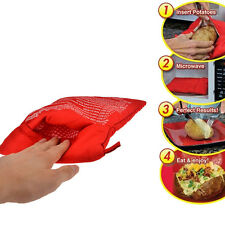 Useful Potato Express Microwave Cooker Bag 4 Minutes Fast Reusable Washable New