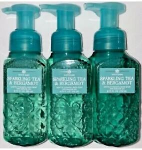 3 Bath & Body Works SPARKLING TEA & BERGAMOT Gentle Foaming Hand Soap 8.75 FL OZ