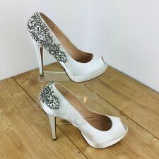 "Pink by paradox white shoes ""indulgence"" originally £99 from london eur 39 uk 6"