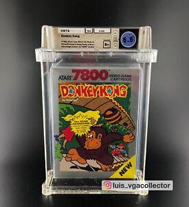 Donkey Kong 7800 Atari WATA 5.5 B+ 1988 Silver Box Sealed Graded No Nes Snes VGA