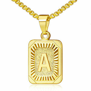 SWAOOS Letters Necklaces for Women Men Gold Color Initial Pendant Twisted Rope Chain English Alphabet Jewelry Best Gift 60Cm