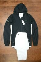 Lacoste Sport $250 Men's Athletic Black/White Poly Hooded Tracksuit 2XL EU 7