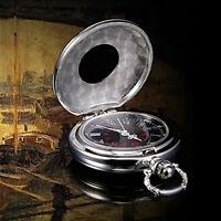 Herrenuhr Taschenuhr Rostfreier Stahl Mechanisch Uhr Pocket Z3M4 Watch Silb LZ