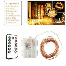 10M 100LED Battery Power String Fairy Lights 8 Function Garden Xmas Tree Outdoor