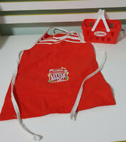 COLES MINIS BASKET AND APRON! RED KIDS TOYS PROMOTIONAL TOYS!
