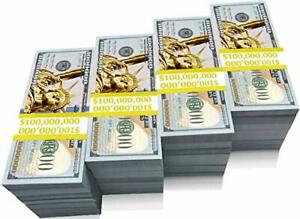 1 Million Dollars Prop Money Bill 100pcs Real one Million Dollar Fun and Props