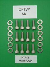 CHEVROLET SB 265 283 350 400 Collecteur d'admission Kit de boulon à tête bouchon