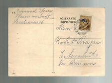 1943 Germany Theresienstadt Concentration Camp Package thank Cover Edmund Glaser