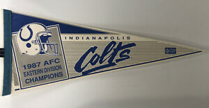Indianapolis Colts Pennant 1987 AFC Eastern Division Champions Vintage NFL