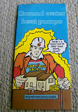 RARE vintage 1978 GEO-THERMAL brochure GROUND WATER HEAT PUMPS early pamphlet