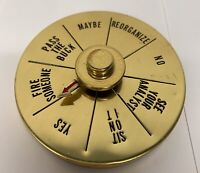 Vintage Brass Spinner Decision Maker Executive Desk Paperweight