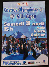 Affiche RUGBY - TOP 16 - saison 2003-2004 - CASTRES OLYMPIQUE / SUA AGEN