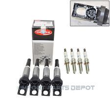 BMW Mini Ignition Coil + Spark Plug High Power Kit Delphi NGK OEM 153/664 -4pair
