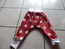 Mitwachshose - Pumphose aus Plüschfleece rot mit Sterne