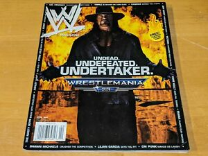 THE UNDERTAKER WWE MAGAZINE Wrestling April 2007 Issue CM Punk/Wrestlemania 23+