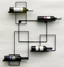 Botellero para vino black line soporte botellas metal 90cm de Estante pared