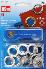 OCCHIELLI Prym con Rondelle 14mm Argento occhiello vela metallici bottoni 541383