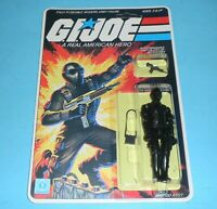 *RECARDED* 1982 GI Joe Snake Eyes Figure Complete Sealed *CUSTOM File Card Back*