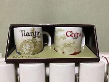 China Starbucks Coffee 3oz Global Icon City Mug Set~~~Tianjin