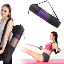Yoga Mat Bag Oxford Pilates Carrier Mesh Adjustable Strap Sport Pocket Shan