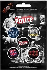 The Police pack of 5 round pin badges (rz)