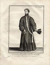 XVIIIe / CHANOINE REGULIER A LA BANDEROLE MONASTERES D'ALLEMAGNE