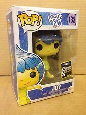 FUNKO POP! Disney Inside Out JOY SPARKLE HAIR Summer Con Exc #132 Vinyl Figure