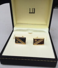 ALFRED DUNHILL CUFFLINKS BOXED GOLD & SILVER DESIGN