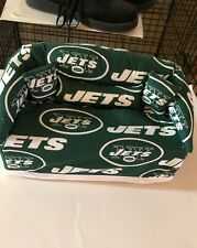 New York Jets Sofa Couch Tissue Box Cover With Little Pillows