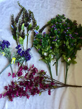 Lot of 12 - New - Purple Floral Bushes/Berries - All Sizes
