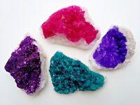 4 x Dyed Quartz Crystal Geodes - Each Piece 50mm+