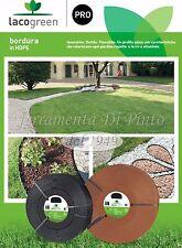 Kit Bordura Nero MT 25 mm 4,5 Decorazione Giardino Duttile Flessibile Lacogreen