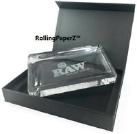 """New! RAW Rolling Papers CRYSTAL GLASS ROLLING TRAY 6+ LBS LIMITED EDITION 9""""X12"""""""