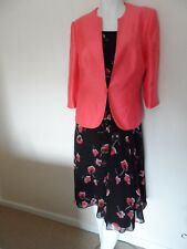 Jacques Vert stunning 2-piece matching outfit dress & jacket size 12