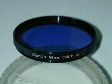 FILTRE CANON 55 mm CCB12 3x bleu  pour objectif photo photographie