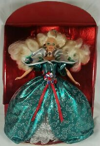1995 Holiday Barbie Special Edition No Box Still On Cardboard Complete See Pics!