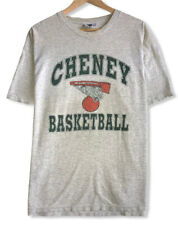 Vintage Cheney Basketball Men's Size XL Lee Tag Gray T-Shirt Made in the USA