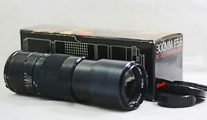 MINOLTA MC 300MM F5.6 TELE ROKKOR-X CAMERA LENS (NEAR MINT)