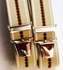 Neutrale Hosenträger extra stark extra lang 4 stabile Clip waschbar 40°beige